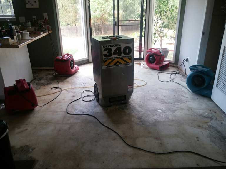 residential basement water extraction